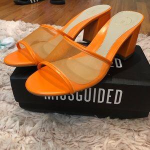 Missguided Orange Mules